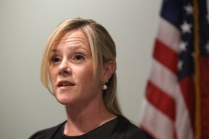 Bridget Anne Kelly, Gov. Chris Christie's former chief of staff, maintains her innocence at a press conference after her indictment in the Bridgegate scandal. (Andrew Mills/NJ Advance Media)
