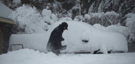 More than 2 feet of snow fell in Norfolk, Mass. (Matt Campbell/EPA)