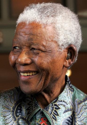 Nelson Mandela (AP Photo/Themba Hadebe)